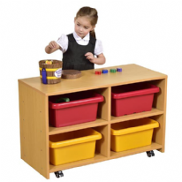 2 Level Rectangular Tray Storage Unit